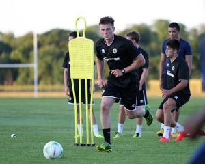 Stefan Galinski during Boston United's first pre season training session in