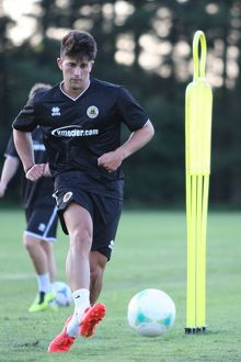 Zak Mills during Boston United's first pre season training session in preparation