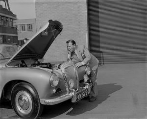 1955 Daimler Conquest Roadster, Hooper body with Norman Wisdom