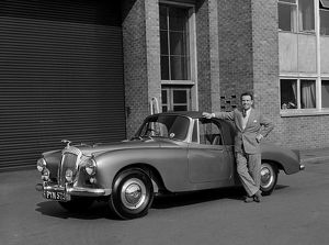 1955 Daimler Conquest Roadster, Hooper body with actor Norman Wisdom.