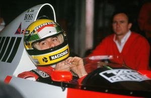 Ayrton Senna in McLaren MP4-5 at 1989 British Grand Prix
