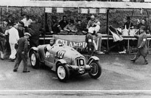 Delahaye 135S, Rene Le Begue/Nicolas Mahe. 1936 Tourist Trophy at Ards
