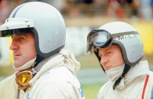 Denny Hulme and Bruce McLaren, racing drivers