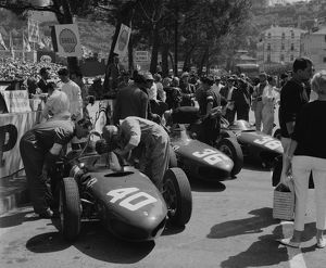Ferrari 156 Sharknose in pits 1961 Monaco Grand Prix