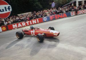Jackie Ickx in Ferrari at 1968 Belgian Grand Prix