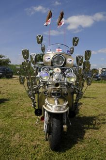Lambretta scooter showing mod mirrors