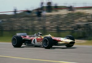 Lotus 49 Gold Leaf, Jackie Oliver. 1968 Dutch Grand Prix