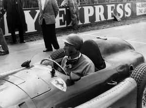 Peter Collins in Lancia Ferrari at British GP Silverstone 1956