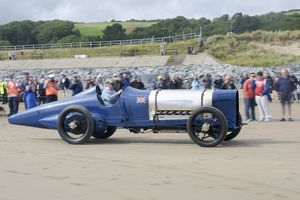 Sunbeam 350 hp driven by Ian Satnfield, National Motor Museum Chief engineer at Pendine