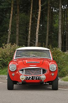 Austin Healey 3000 1960 Red white roof
