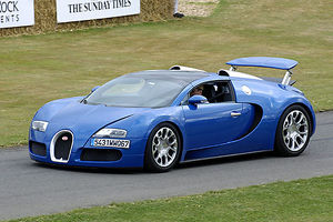 Bugatti Veyron Grand Sport blue 2009 Goodwood FOS 09