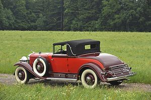 Cadillac V16 Convertible Coupe 1930 Red 2-tone