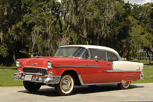 Chevrolet Bel Air, 1955, Red, & white