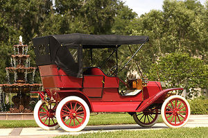Ford Model T Touring (4-door), 1909, Red