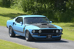 Ford Mustang Mach 1 1969 Blue & black