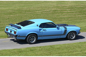 Ford Mustang Mach 1, 1969, Blue, & black