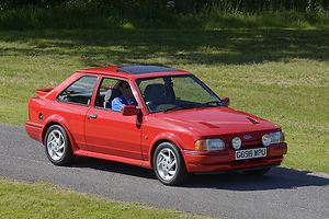Ford XR3i, 1989, Red