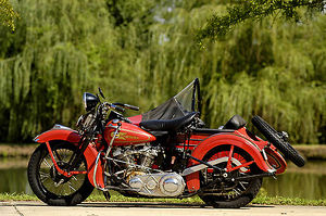 Harley Davidson EL61 with knucklehead engine and factory sidecar