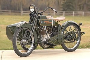 Harley Davidson Model WJ with sidecar