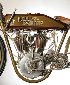 Harley Davidson V-Twin Racer 1921 Brown