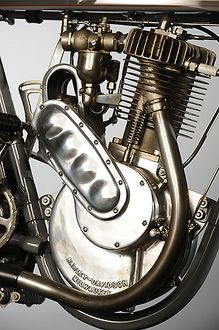 Harley Davidson X8A single-cylinder 4.3hp 1912 Grey
