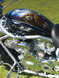 Harley V Rod 1130cc reg: release form 03-06-2011-05, custom paint job