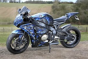 Honda Fireblade with custom paint job