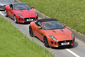 Jaguar F-Type V6 S Roadster 2014 Orange