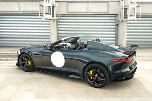 Jaguar Project 7 (ltd edition F-Type Speedster) 2014 Green & white