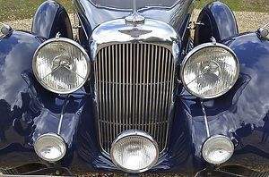Lagonda V12 Saloon, 1938, Blue, dark