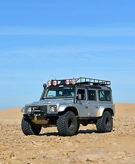 Land Rover Defender 2007 silver