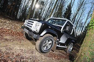 Land Rover Defender SVX 2007 Black & silver