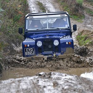 Land Rover hybrid, Morgan engine 1971 Blue & white