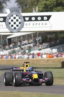 Red Bull-Cosworth STR1 F1 car from 2006 driven at FOS 09 by Mark Webber, 2009 Red
