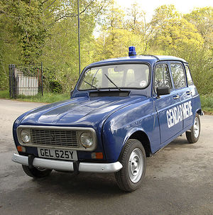 Renault 4 Police car 1982 Blue dark