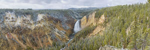 usa/67545 09106 lower falls fall yellowstone national