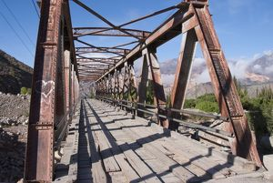 argentina jujuy bridge tilcara village quebrada
