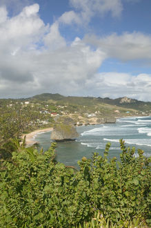 BARBADOS, North East Coast, Bathsheba, View of Soup Bowl Beach, Prime Barbados Surfing