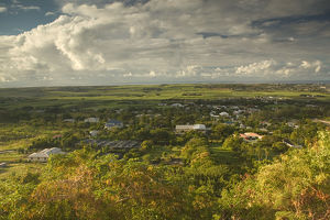 BARBADOS, St. George Parish, Francia, Morning View of Francia village from Gun Hll