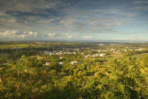 BARBADOS, St. George Parish-Francia, Morning View of Francia village from Gun Hill