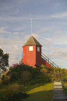 BARBADOS, St. George Parish, View of the Signal Tower at Gun Hill Station