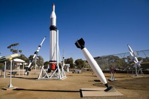 black knight rocket missile park woomera outback