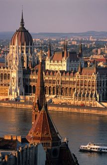 Budapest, Hungary, Danube River, Parliament House, Calvinist Church