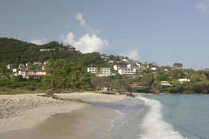 Caribbean, GRENADA, Grande Anse & Morne Rouge Morning View of Grande Anse Beach