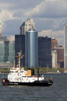 US Coast Guard Penobscot Bay cutter in the New York Harbor, New York, USA