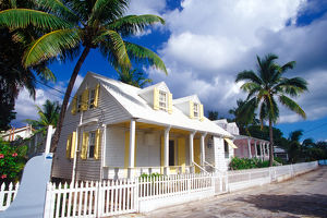 Colorful loyalist homes from the 1900's, Dunmore Town, Harbour Island, Bahamas