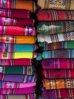 life/colorful scarfs blankets tourists town humahuaca