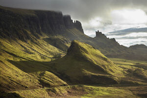 early light quiraing isle skye scotland united