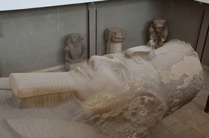 Egypt, Memphis (aka Menufer). Giant statue called The Colossus of Ramses II