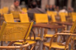 cafe tables chairs/eu france brittany finistere quimper cafe